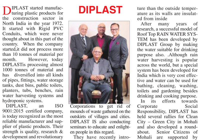 World Environment Day - Diplast In The Media